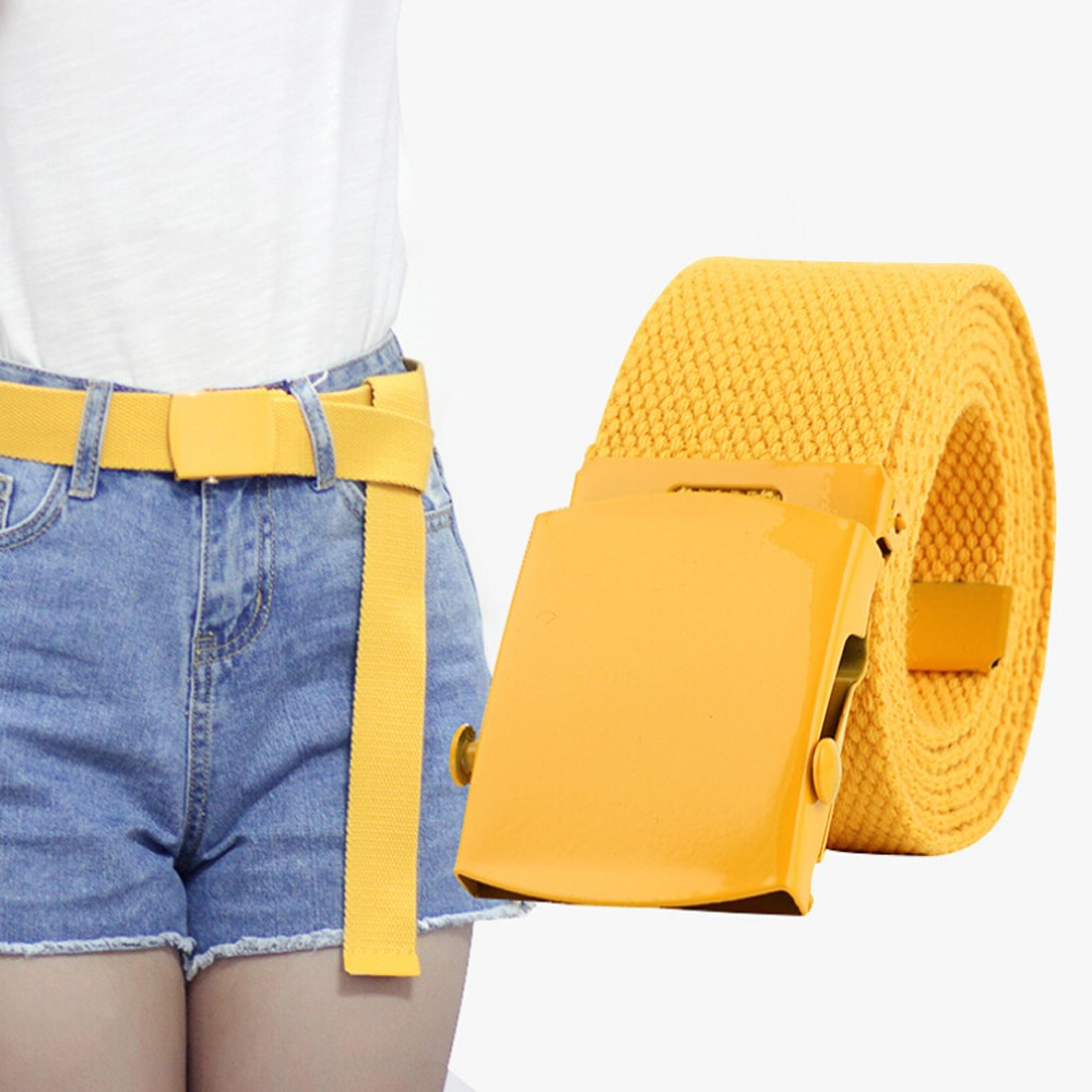 Belts For Women Hot Sale Men Women Automatic Fashion Nylon Belt Buckle Fans Canvas Belt Ceinture Femme #45