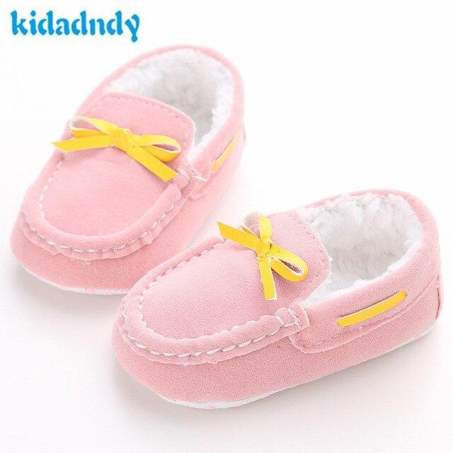dd46fdde23f80 Kidadndy 0-1 Anos de Idade Do Bebê Do Sexo Feminino Sapatos Pés Quentes Além