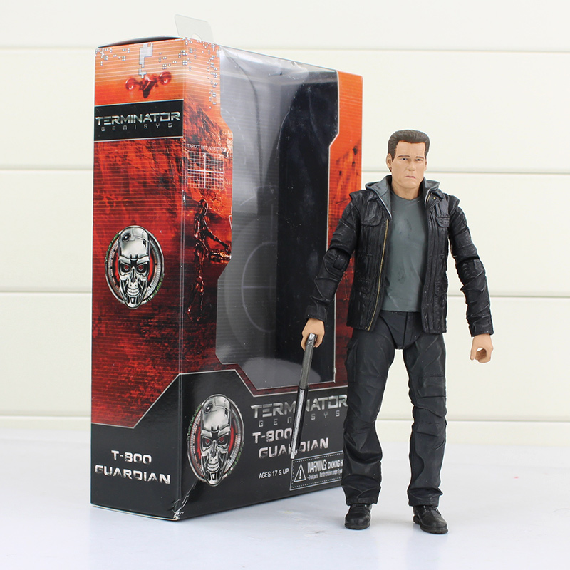 NECA The Terminator Genisys T-800 Guardian PVC Action Figure Collectible Model Toy 7 17cm neca the terminator 2 action figure t 800 endoskeleton classic figure toy 718cm 7styles