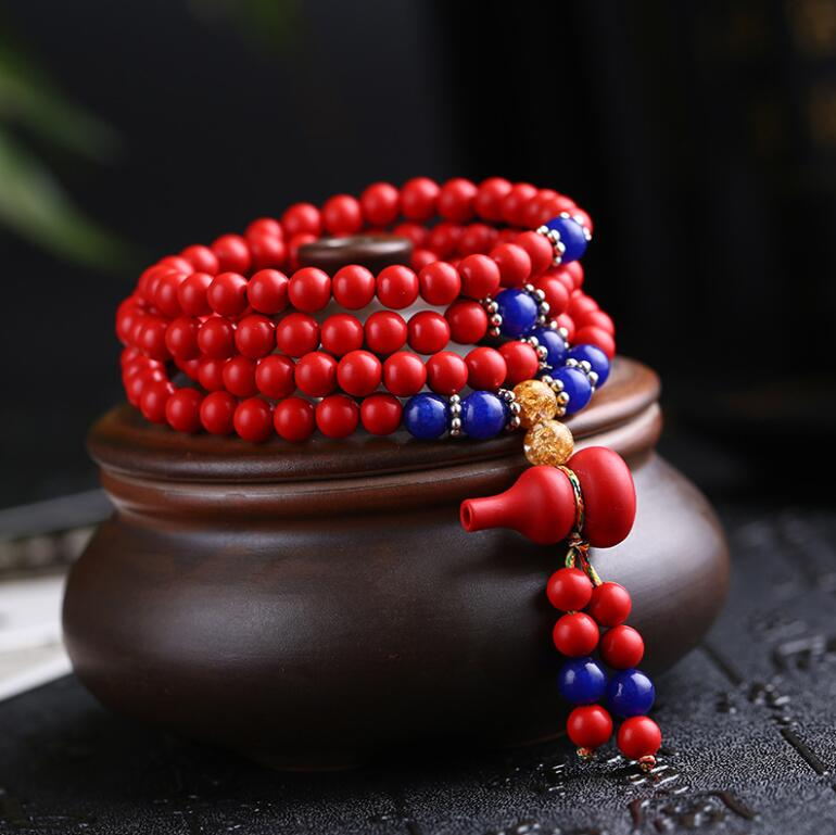 Best selling cinnabar bracelet multi-layer beads red this year couple bracelets bracelet womenBest selling cinnabar bracelet multi-layer beads red this year couple bracelets bracelet women