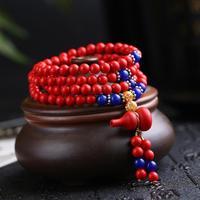 Best selling cinnabar bracelet multi layer beads red this year couple bracelets bracelet women
