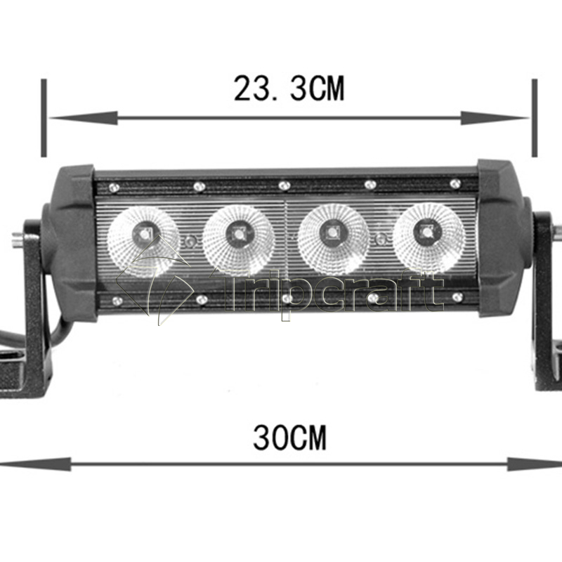 TRIPCRAFT 40W 11Inch LED Light Bar for Off Road Indicators Work Driving Offroad Boat Car Truck 4x4 SUV ATV Fog SPOT FLOOD BEAM tripcraft 120w led work light bar 21 5inch curved car lamp for offroad 4x4 truck suv atv spot flood combo beam driving fog light