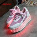 GRITION Shining LED Shoes  7 Colors in 1 LED Light Up Shoes for Women Adults Colorful Luminous Shoes Zapatos Mujer