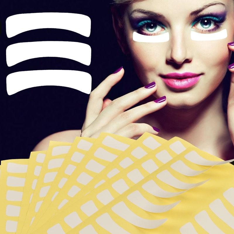 100 Pairs Disposable Eye Lash Extend Patches Paper Eyes Under Pads Eyelash Extension Paper Patches Tips Sticker Wraps Eyelash