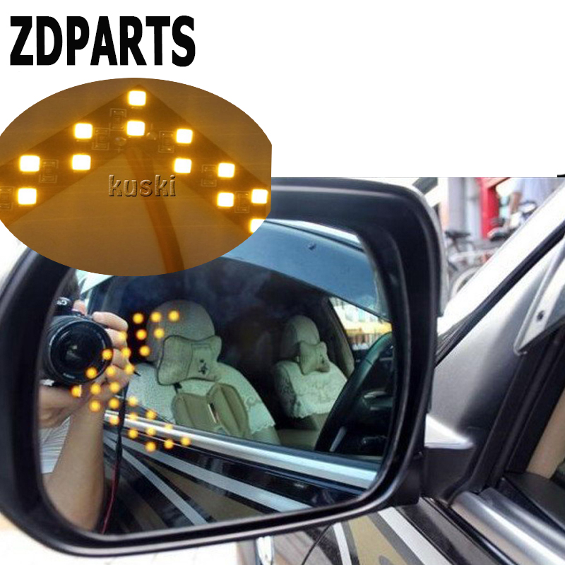 ZDPARTS 2pcs Car Styling Turning Signal Indicator Light For Skoda Octavia A5 A7 2 Rapid Fabia Yeti Superb Volvo V70 XC60 XC90