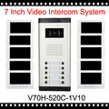 apartment intercom entry system 7 Inch Lcd Video Door Phone Intercom System Video Intercom 10 Apartment Door Bell Video Intercom