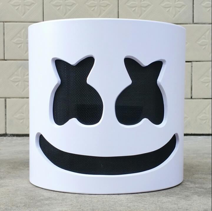 Nouveau masque Marshmello casque Marshmello DJ masque visage chapeau musique Fans Concert accessoires barre de haute qualité PVC Halloween cadeau de noël