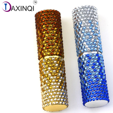 DAXINQI 1pcs single brush rose gold or blue metal handle diamond surface makeup tool powder foundation blush blending for girls