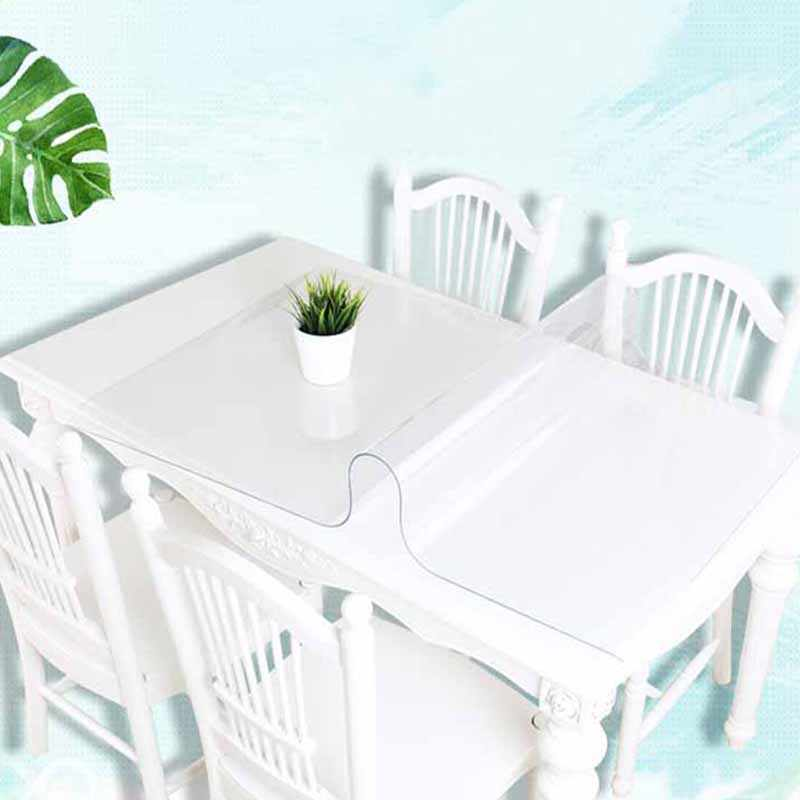 BALLE PVC Table Cover Transparent Tablecloth Rectangle Protector Desk Pad Soft Glass Dining Top Table Cloth Plastic Mat
