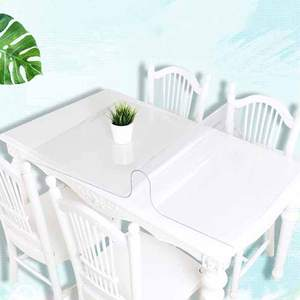 Vieruodis PVC Table Cover Soft Glass Tablecloth Table Cloth