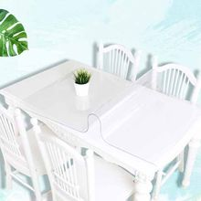 BALLE PVC Table Cover Transparent Tablecloth Rectangle Protector Desk Pad Soft Glass Dining Top Table Cloth Plastic Mat(China)