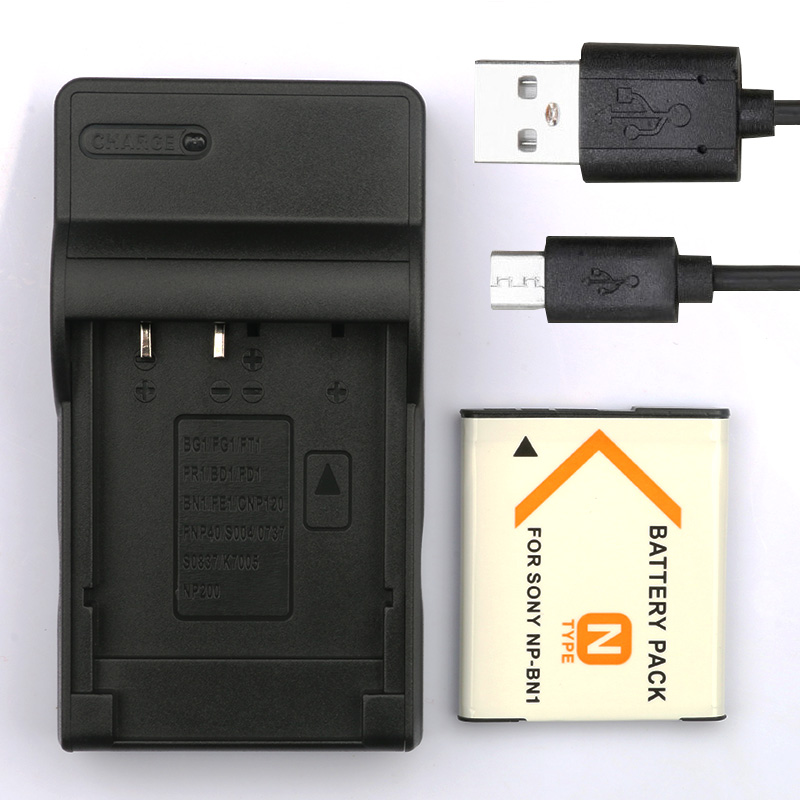 LANFULANG NP-BN1 NP BN1 Rechargeable Camera Digital Battery + Charger For <font><b>Sony</b></font> Cyber-Shot <font><b>DSC</b></font>-W310 <font><b>DSC</b></font>-<font><b>W320</b></font> <font><b>DSC</b></font>-W330 <font><b>DSC</b></font>-W350 image