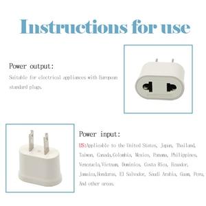 Image 3 - 1 Pc Us Adapter Plug Eu Us Reizen Muur Elektrische Power Lading Outlet Sockets 2 Pin Plug Socket Euro europa Naar De Vs