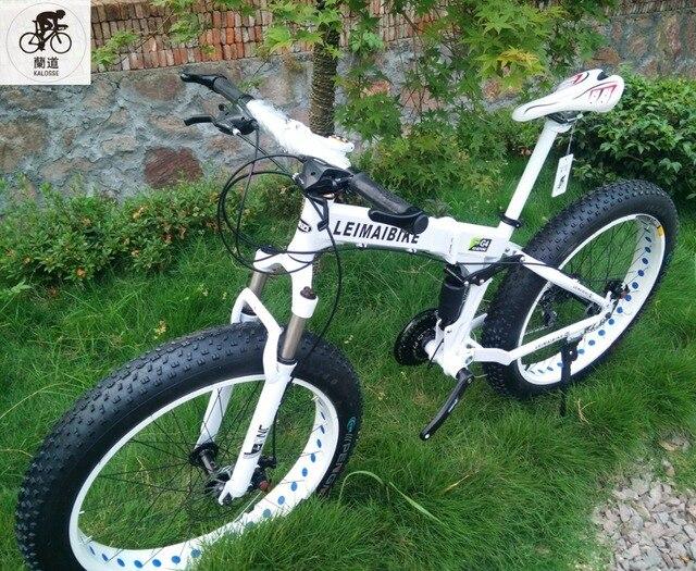 Kalosse full suspension Vet bikes Strand fiets 26*4.0 banden, sneeuw mountainbike, 21/24/27/30 speed
