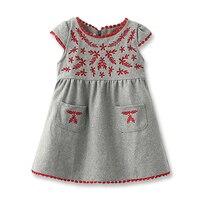 新しい女の子ドレス子供コーデュロイドレスファッション刺繍女の子のドレス秋冬ドレス用子供2-6年古