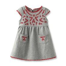Здесь можно купить   New Little Girls Dresses Kids Corduroy Dress Fashion Embroidery Girls Dress Autumn Winter Dresses for Children 2-6 Years Old Children