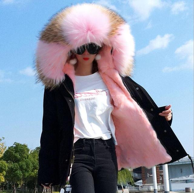 Women Winter Jacket Down Coat Real Fox Fur Collar Down Parka Outerwear Thick Warm Winter Clothing 2019 luxury down coats women