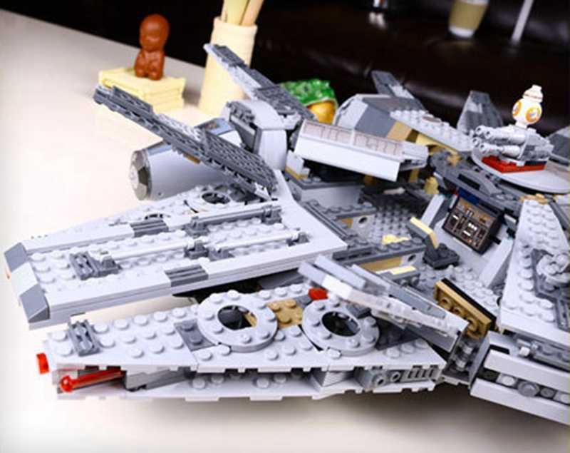 Building Blocks Millennium Falcon Toys Compatible legoed