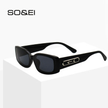 SO&EI Ins Popular Rectangle Sunglasses W