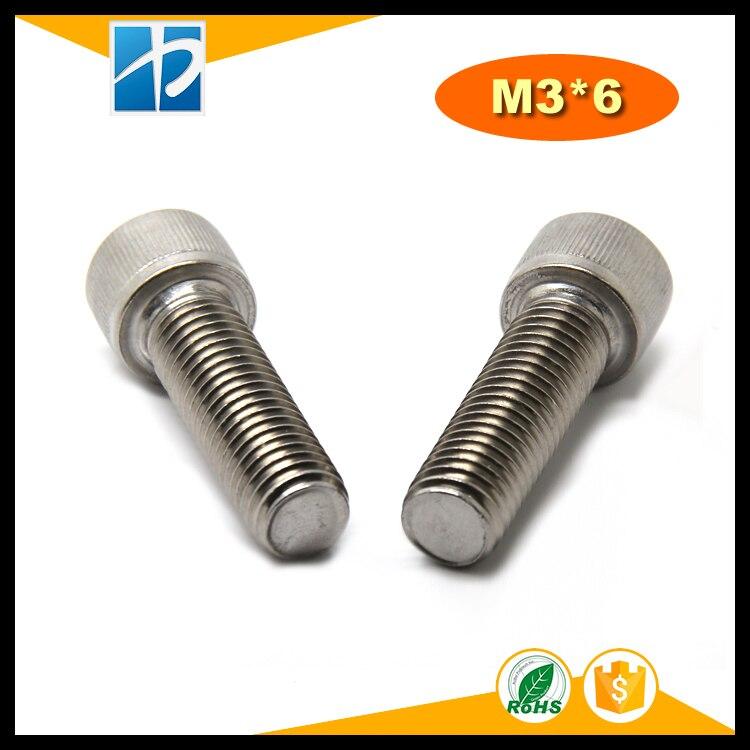 100pcs M3 Vis Cylindriques /à T/ête Plate Vis /à T/ête Frais/ée Vis M/écaniques Boulon en Acier Inoxydable SS304 6mm