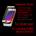 Full Cover screen Tempered Glass Protector For MI Xiaomi Note 5 Max For Redmi Note 3 Note 4 PRO without retail package