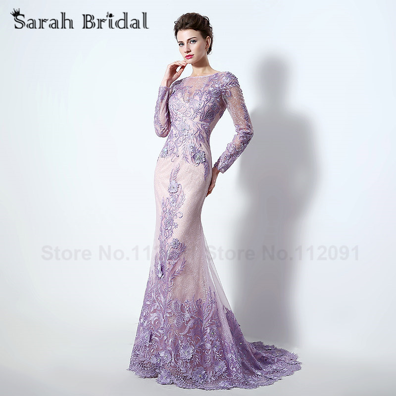 Popular 2016 New Long Purple Mermaid Dress-Buy Cheap 2016 New Long ...