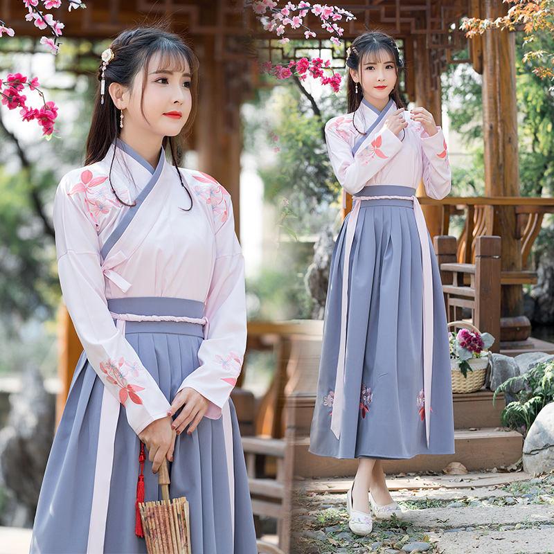2018 Winter Hanfu National Costume Ancient Chinese Cosplay Costume Chinese Hanfu Women Hanfu Clothes Lady Stage