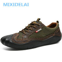 MIXIDELAI Summer Hot Sale Boat Shoes Men Sneakers Breathable Mesh Loafers Men Casual Shoes Krasovki Comfortable Soft Men Shoes