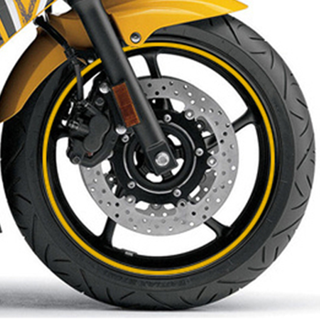 цены Dewtreetali 16 Strips Motorcycle Accessories 7 Colors 18 inch Car Stickers Wheel Rim Sticker Reflective Tape