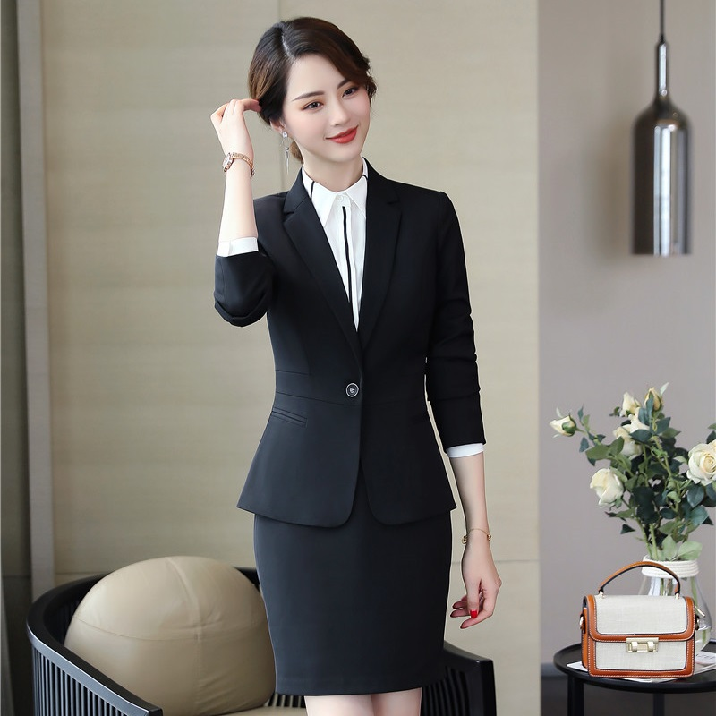 2019 Professional Business Suits Women Work Wear With Tops And Skirt Ladies Office Blazers & Jackets Sets Spring Autumn