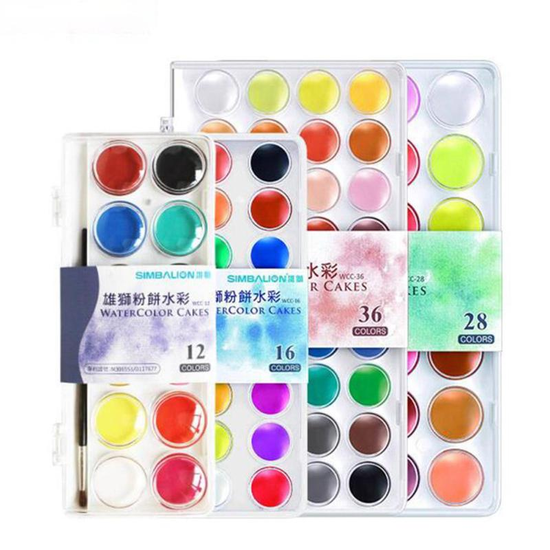 1set colors solid watercolor paints outdoor painting pigment