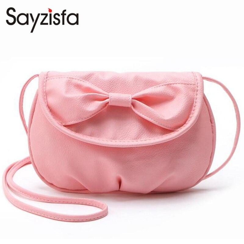 Sayzisfa 2017 Brand New cute bow small handbag women clutch bag ladies Candy color purse shoulder messenger crossbody bags T323