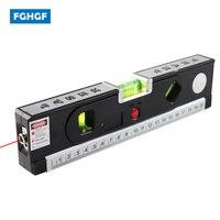 FGHGF Multi Function Blister Laser Levels Aligner Ruler Horizon Vertical Magnetic Measuring Tool Tape Marking Lines
