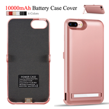 10000 mAh Power Case For iPhone 8 Plus 7 Plus Battery Cover For iPhone 6s Plus 6 Plus Back Stand USB Smart Charger Capa Fundas