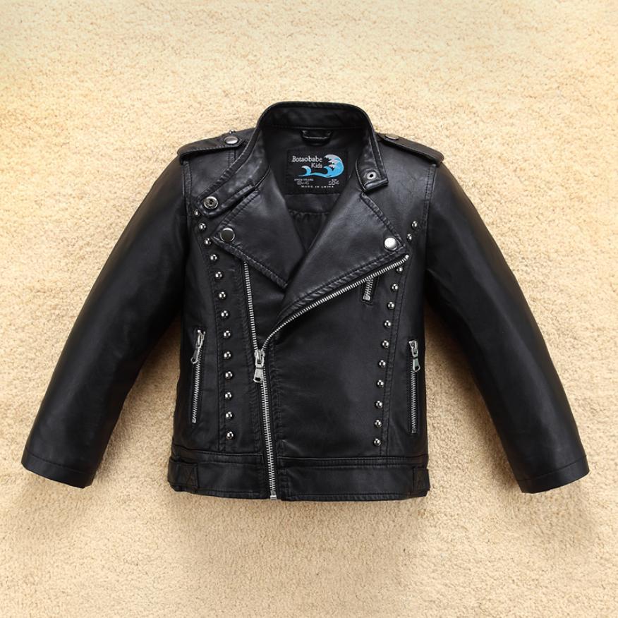 Jacket for Boys 2019 Spring Autumn Fashion Brand Design Leather Jacket Girl Children New Coat Infant