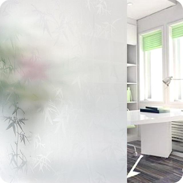 US $8.46 11% OFF 45x200 cm transluzenten Glas Fenster Film Privatsphäre  Glas Aufkleber balkon schiebetür badezimmer fenster papier Aufkleber ...