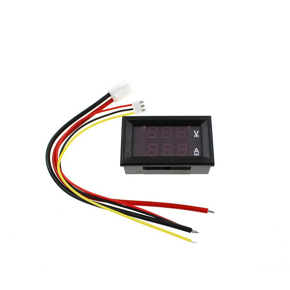 Dc 0 100v 10a Digital Voltmeter Ammeter Red   Blue Led