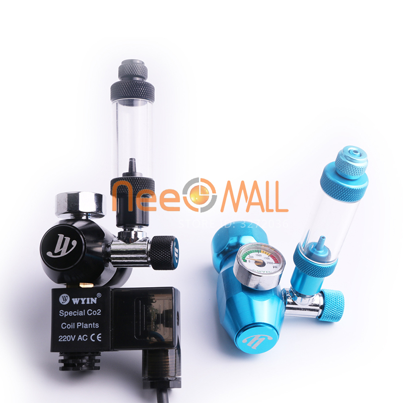 Chihiros Aquarium Wyin Mini Single Guage CO2 Regulator with Check Valve Bubble Counter Solenoid Valve and Installing Kits A in CO2 Equipment from Home Garden