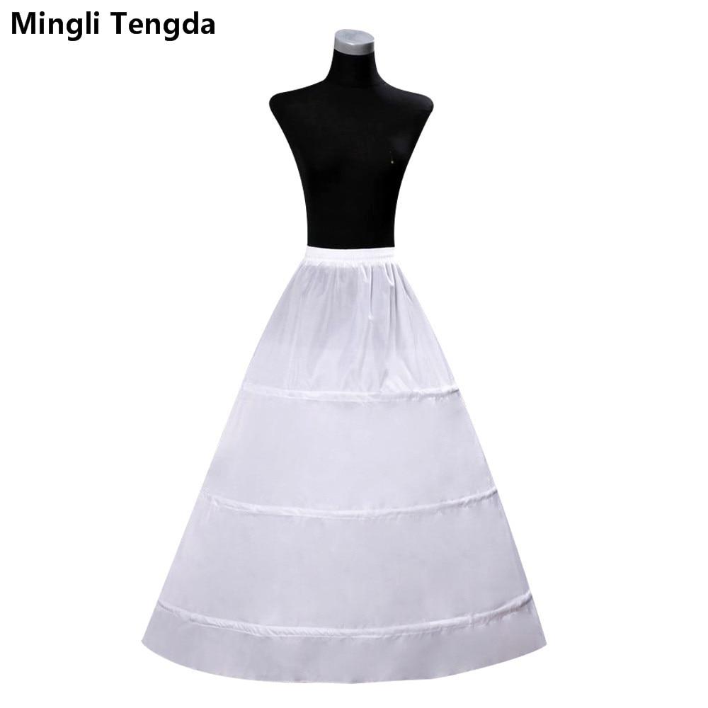 9698fc6698 Mingli Tengda 3-Hoops Bone Wedding Dress Petticoat White bride petticoat  Wedding Accessories Crinoline Underskirt For Ball Gown