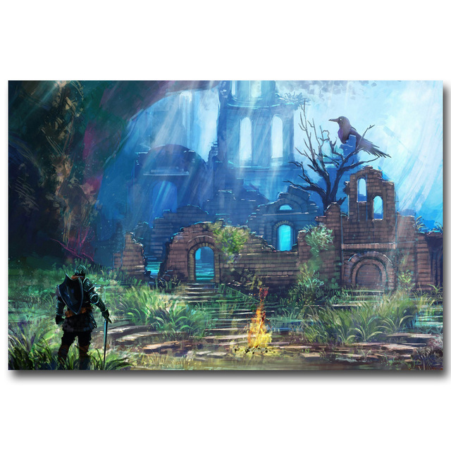 Шелковый Плакат Гобелен Dark Souls Вариант 5