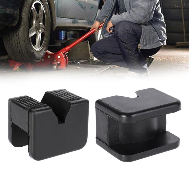 1pcs Car Universal Slotted Frame Rail Floor Jack Guard Adapter Lift Rubber Pad