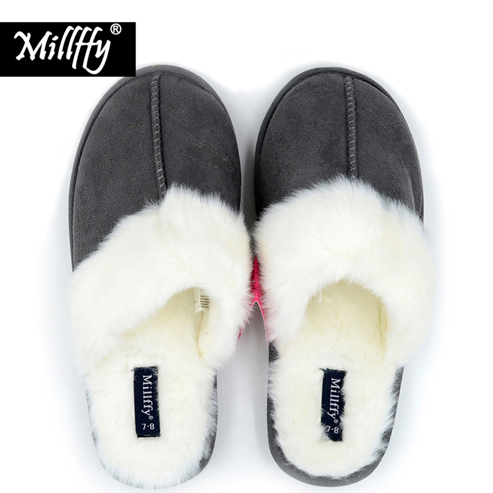 Millffy Nordic Faux Trim rabbit fur slippers womens shoes faux fur slippers Memory foam slippers eva slipper womens suede shoe candino sportive c4524 4