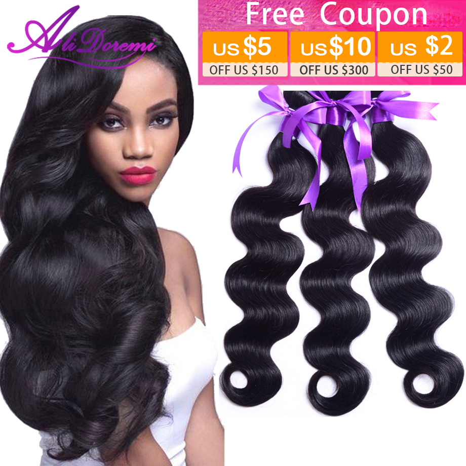 Peruvian Body Wave Virgin Hair 3pcs Lot #1B Unprocessed Human Hair Weaves Alidoremi Hair Cheap Peruvian Virgin Hair Body Wave