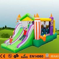 Бесплатная доставка 5.6 м двойной lane замок слайд надувные Детские площадки для детей с бесплатным воздуходувки ce