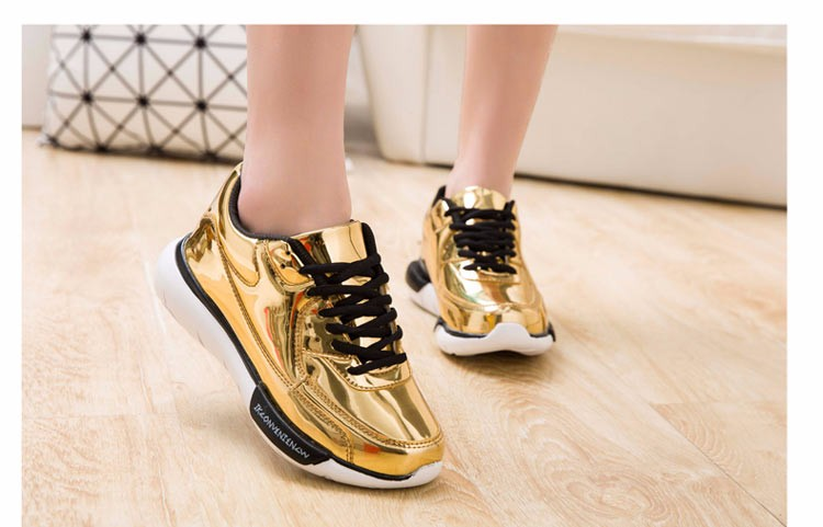 Mirror Surface Women 90 Casual Shoes Fashion Spring Lace Up Platform Womens Shoes Low Top Lace Up Trainers Women Gold Shoes YD52 (10)