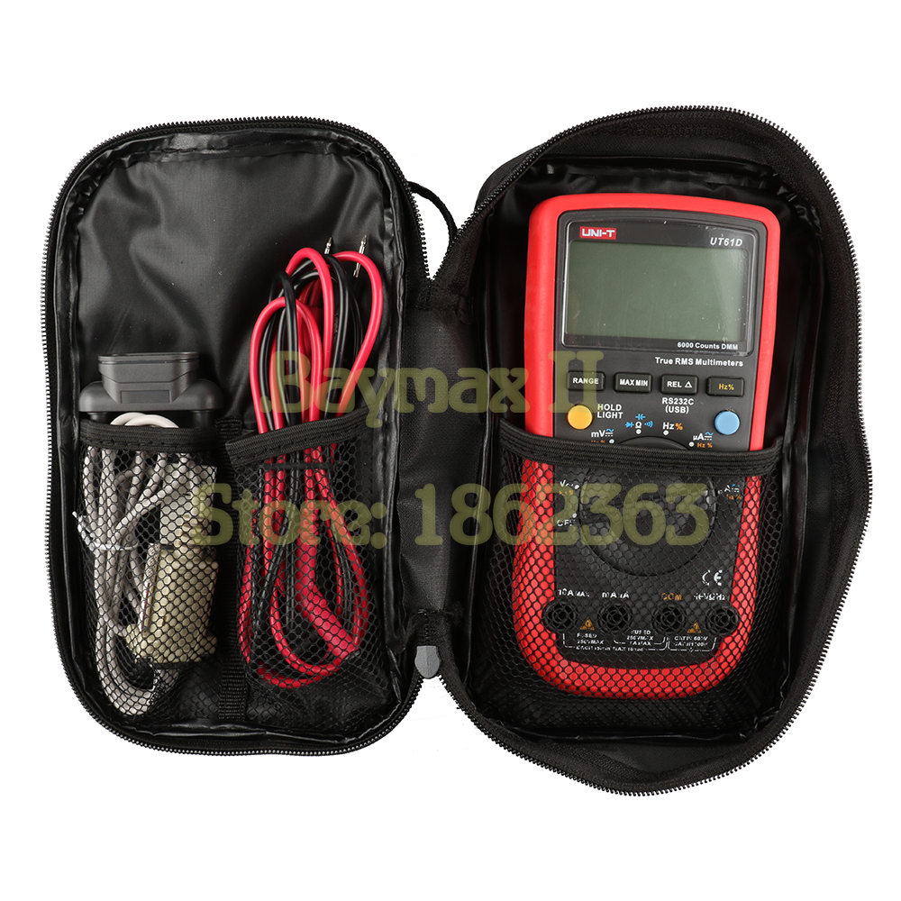 Image 3 - UNI T Black Canvas Bag for UNI T Series Digital Multimeter ,also Suit for The Other Brands Multimeter-in Instrument Parts & Accessories from Tools