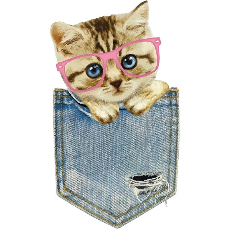 купить сумка кошка рисунок патч гладильная наклейки передача тепла