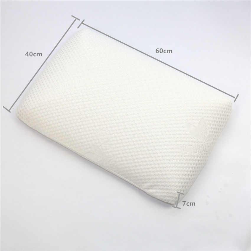 Almohada de látex Natural ZHUO MO 60x40cm para dormir, almohada masaje cervical, cuidado de cabeza y cuello, almohada de memoria