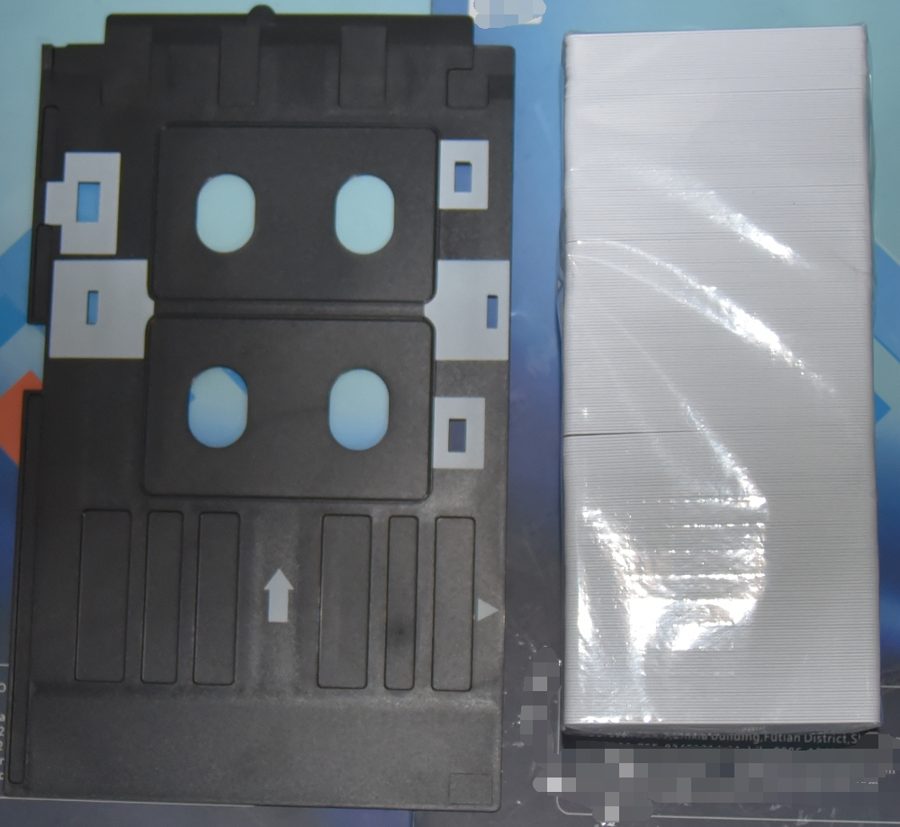 Grade A Free Shiping for EPSON R200 R210 R220 R230 R300 R310 R320 R350 Inkjet PVC Card ID Card +1PCS Tray free shipping high quality pvc id card tray for canon mp630 640 980 990 mg5220 5240 5250 inkjet printer pvc card tray 2pcs lot