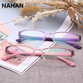 Pure colour Plastic Titanium Spectacle Frame TR90 Super Light Female Grade Glasses Frame  Transparent Glasses with Clear Lens